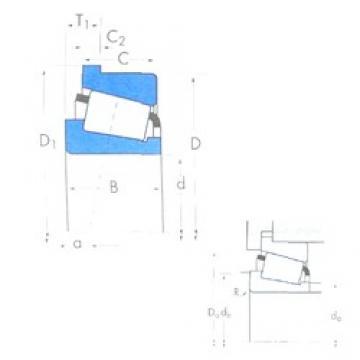 38,1 mm x 79,375 mm x 29,771 mm  Timken 3490/3420B tapered roller bearings
