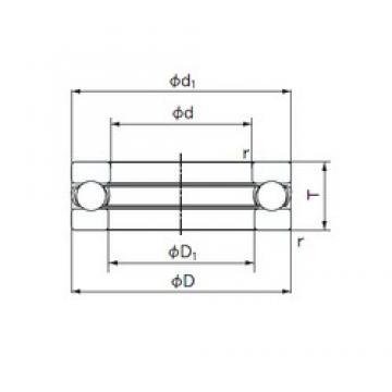 NACHI 51312 thrust ball bearings