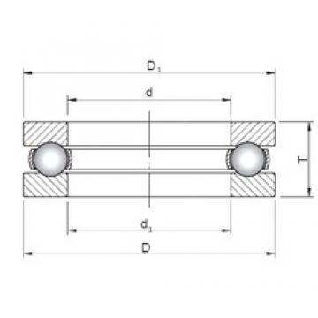 ISO 51214 thrust ball bearings