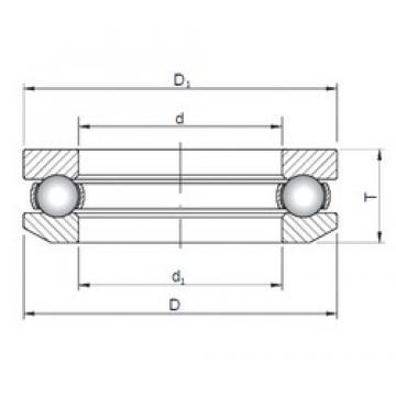 ISO 53220 thrust ball bearings