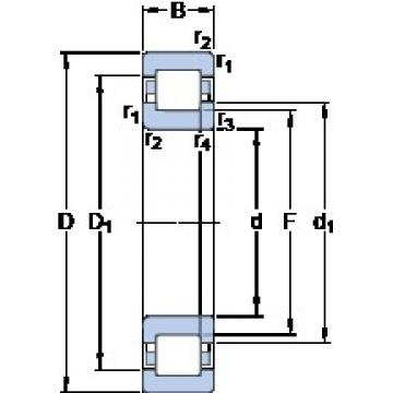110 mm x 200 mm x 38 mm  SKF NUP 222 ECML thrust ball bearings