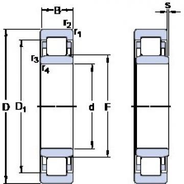 55 mm x 100 mm x 21 mm  SKF NU 211 ECM thrust ball bearings