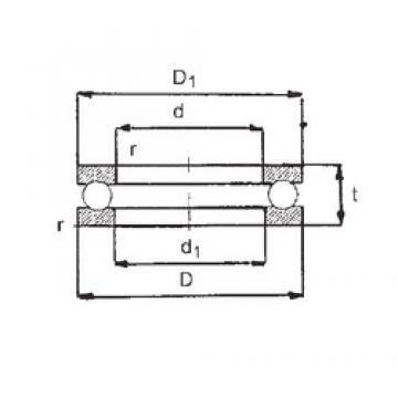 FBJ 0-11 thrust ball bearings