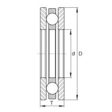 INA EW2-1/4 thrust ball bearings
