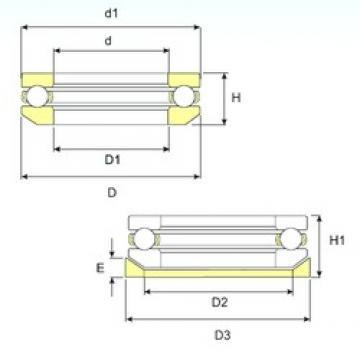 ISB 53318 U 318 thrust ball bearings