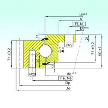 ISB EBL.30.1355.200-1STPN thrust ball bearings