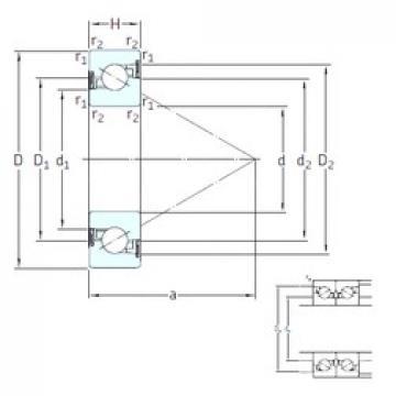 25 mm x 52 mm x 15 mm  SKF BSA 205 CG-2RZ thrust ball bearings