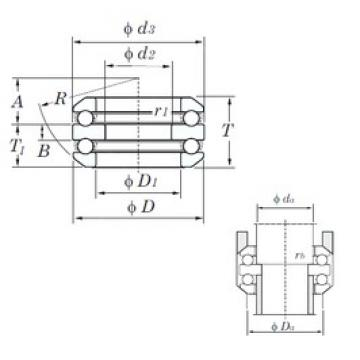 KOYO 54312 thrust ball bearings