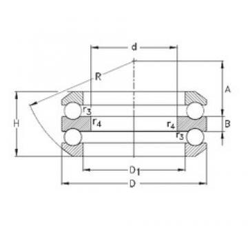 55 mm x 125 mm x 16 mm  NKE 54314-MP thrust ball bearings