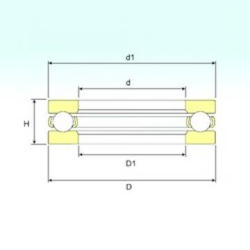 ISB 51148 M thrust ball bearings