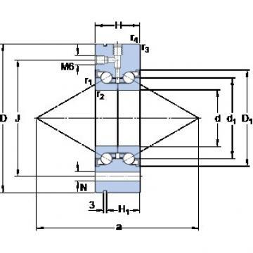 SKF BEAM 050115-2RZ thrust ball bearings