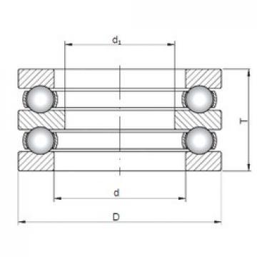 ISO 52340 thrust ball bearings