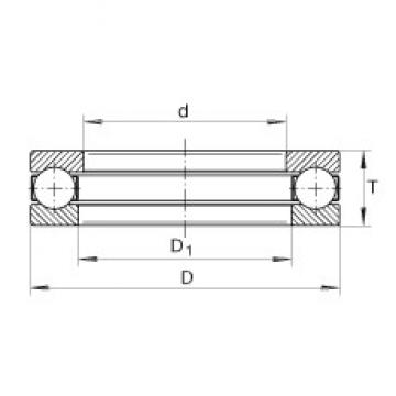 INA 2912 thrust ball bearings