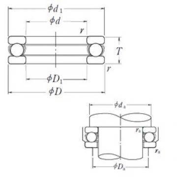 NSK 51102 thrust ball bearings