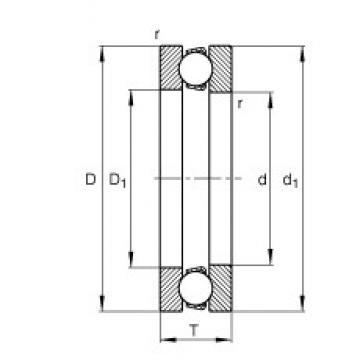 FAG 51176-MP thrust ball bearings