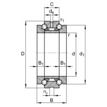 67 mm x 100 mm x 44 mm  FAG 234713-M-SP thrust ball bearings