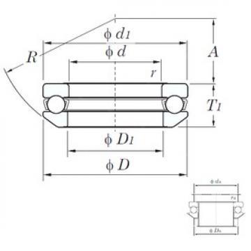 KOYO 53264 thrust ball bearings