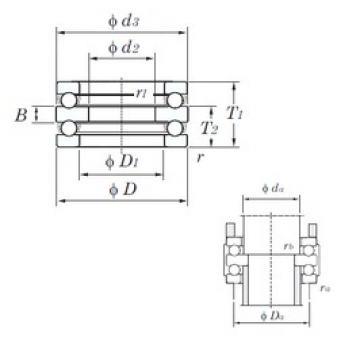 KOYO 52310 thrust ball bearings