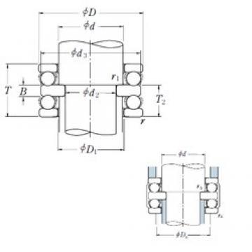 170 mm x 240 mm x 21 mm  NSK 52234X thrust ball bearings