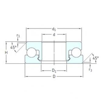 SKF 51305V/HR22T2 thrust ball bearings