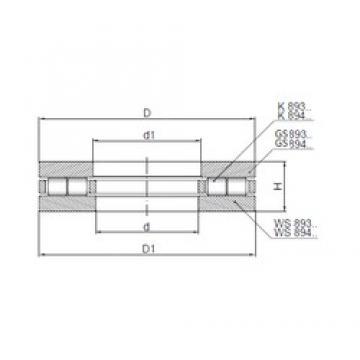 ISO 89430 thrust roller bearings