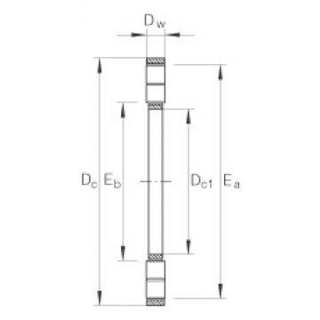 INA K89312-TV thrust roller bearings