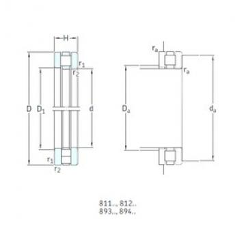 150 mm x 190 mm x 9,5 mm  SKF 81130TN thrust roller bearings