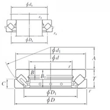130 mm x 225 mm x 19 mm  KOYO 29326R thrust roller bearings