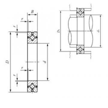 60 mm x 90 mm x 13 mm  IKO CRBH 6013 A UU thrust roller bearings