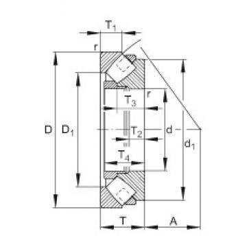 FAG 29388-E1-MB thrust roller bearings