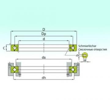 300 mm x 405 mm x 40 mm  ISB RE 30040 thrust roller bearings