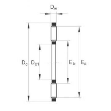 INA TC411 thrust roller bearings