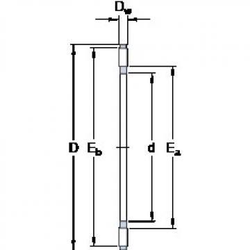 SKF AXK 0414 TN thrust roller bearings