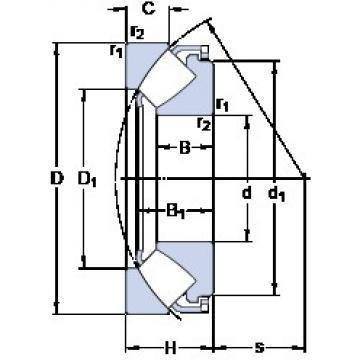 170 mm x 340 mm x 65.5 mm  SKF 29434 E thrust roller bearings