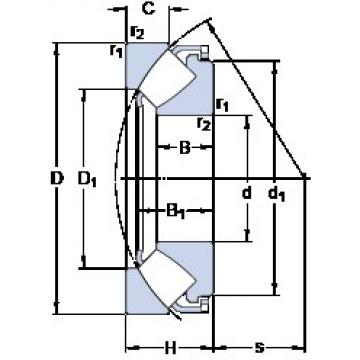 160 mm x 320 mm x 60.5 mm  SKF 29432 E thrust roller bearings