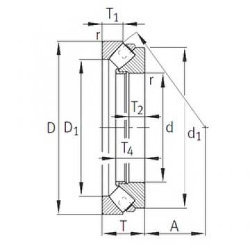 INA 29496-E1-MB thrust roller bearings