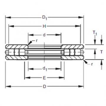 Timken 40TP117 thrust roller bearings