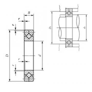100 mm x 150 mm x 20 mm  IKO CRB 10020 thrust roller bearings