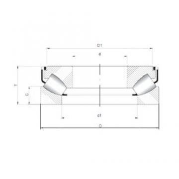 ISO 292/530 M thrust roller bearings
