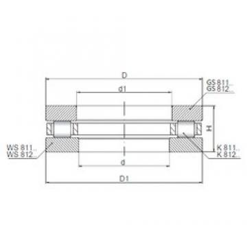 ISO 81211 thrust roller bearings