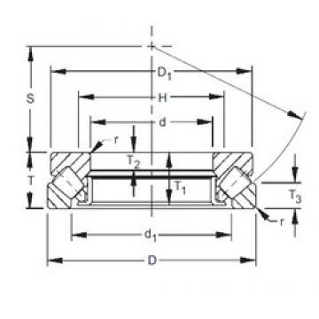 400 mm x 620 mm x 44 mm  Timken 29380 thrust roller bearings