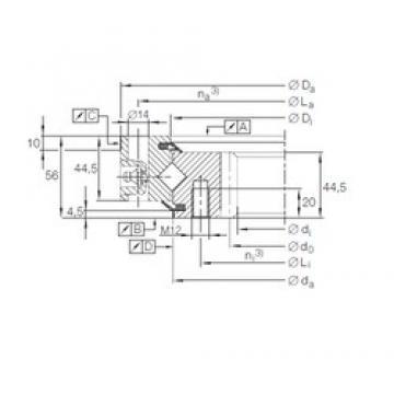 INA XSI 14 0744 N thrust roller bearings
