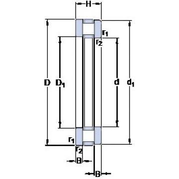 200 mm x 280 mm x 18 mm  SKF 81240 M thrust roller bearings