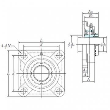 KOYO UKF209 bearing units