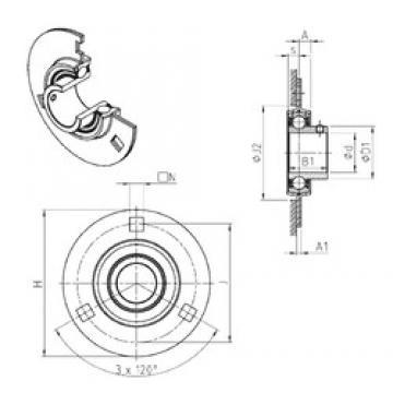 SNR USPF206 bearing units