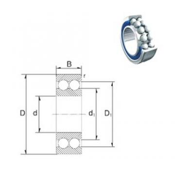 35 mm x 80 mm x 34,9 mm  ZEN S3307-2RS angular contact ball bearings