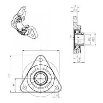 SNR USFTE206 bearing units