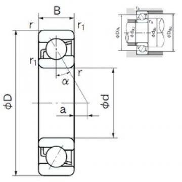 200 mm x 420 mm x 80 mm  NACHI 7340B angular contact ball bearings