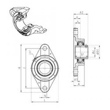 SNR UCFLE206 bearing units