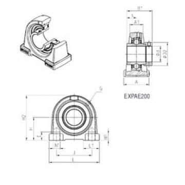 SNR EXPAE208 bearing units